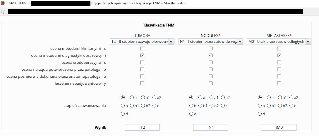 Klasyfikacja TNM. Informacja w sprawie doniesień medialnych.